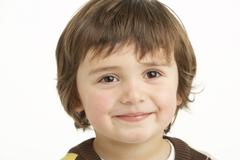 Studio Portrait Of Young Boy Stock Photos