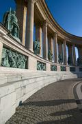 Statues of kings in the heroes square, budapest Stock Photos