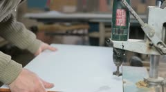 Manufacturing furniture - stock footage