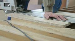 Furniture maker at work in workshop Stock Footage