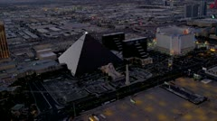 Aerial view Las Vegas Strip, USA - stock footage