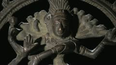 Rotating figurine of bronze Hindu deity Shiva Stock Footage