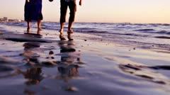 Couple Running On Beach Stock Footage