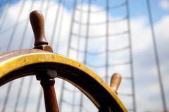 Ship rudder. Stock Photos