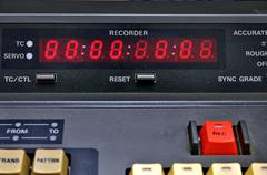 video recorder and editing - stock photo