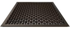 Metal woven barbeque grating Stock Illustration