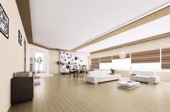 Interior of modern apartment Stock Illustration