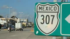Mexican road sign. Stock Footage