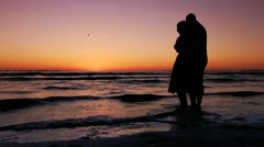 Lovers On The Beach - stock footage