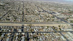 Aerial view Las Vegas suburbs  USA Stock Footage