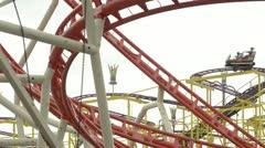 Oktoberfest Germany Munich, Beer Festival, Roller coaster - stock footage