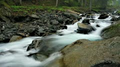 Mountain River Timelapse - stock footage