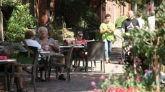 GERMAN VILLAGE SIDEWALK Stock Footage