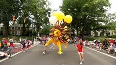 4TH OF JULY PARADE, SMALL TOWN, BALLOON FLOAT, AMERICANA Stock Footage