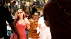 PEOPLE DANCING OUTSIDE - FREE SPIRITS Stock Footage