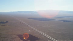 Aerial Solar Energy Farms Las Vegas, USA - stock footage