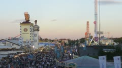 TL DN - Oktoberfest Munich Germany, Beer Festival, overview of the fairground Stock Footage