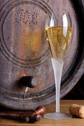 glass champagne - stock photo
