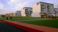 Walklapse, Hyperlapse of modern urban living quarter Stock Footage