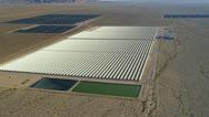 Aerial Solar Energy Farms Las Vegas, USA Stock Footage
