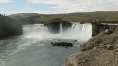 Godafoss Stock Footage