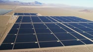 Aerial view desert Solar Energy Farm, USA Stock Footage
