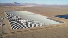 Aerial view Photovoltaic Solar units, USA Stock Footage