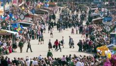 TL - Oktoberfest Munich Germany, Beer Festival, Grand Opening Parade Stock Footage