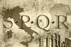 spqr - stock photo