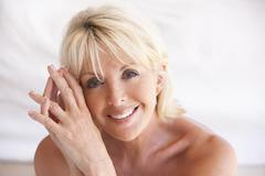 Portrait Of Attractive Senior Woman Stock Photos