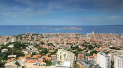 UHD Ultra HD 4K Marseille Skyline Islands Cityscape Seascape France time lapse Stock Footage