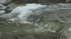 Spring water flow on river Stock Footage