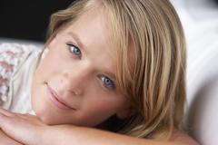 Studio Portrait Of Teenage Girl - stock photo