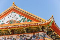 Buddhist temple roof Stock Photos