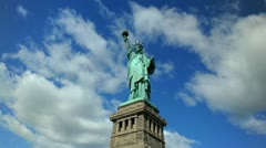 Ultra HD 4K Statue of Liberty, New York City, US, Lady Liberty, time lapse - stock footage