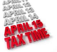 Tax time april 15th Stock Illustration