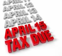 Stock Illustration of april 15th tax due