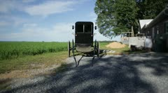 Buggy Stationed in Farm Field Stock Footage