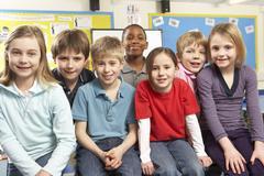 Schoolchildren In classroom Stock Photos
