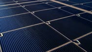Stock Video Footage of Aerial view Solar Panels producing energy, USA