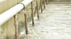 Aeration tank - sewage treatment Stock Footage
