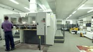 Stock Video Footage of industrial printing of posters,newspapers,leafleats,magazines