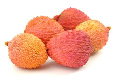 Lychee fruits Stock Photos