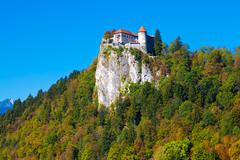 Bled Castle, Slovenia - stock photo