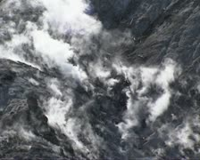 Roaring Mountain with many steam vents (fumaroles) Stock Footage