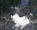 Stock Video Footage of Roaring Mountain with steam vent (fumarole) in Yellowstone National Park