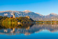 Lake Bled, Slovenia - stock photo