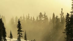 B.C. Canada Fog rolling in and out of the mountains Stock Footage