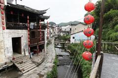 The small village Xiao Likeng, China Stock Photos