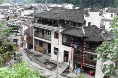 The small village Xiao Likeng, China - stock photo